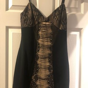 Bebe black and cream size medium dress